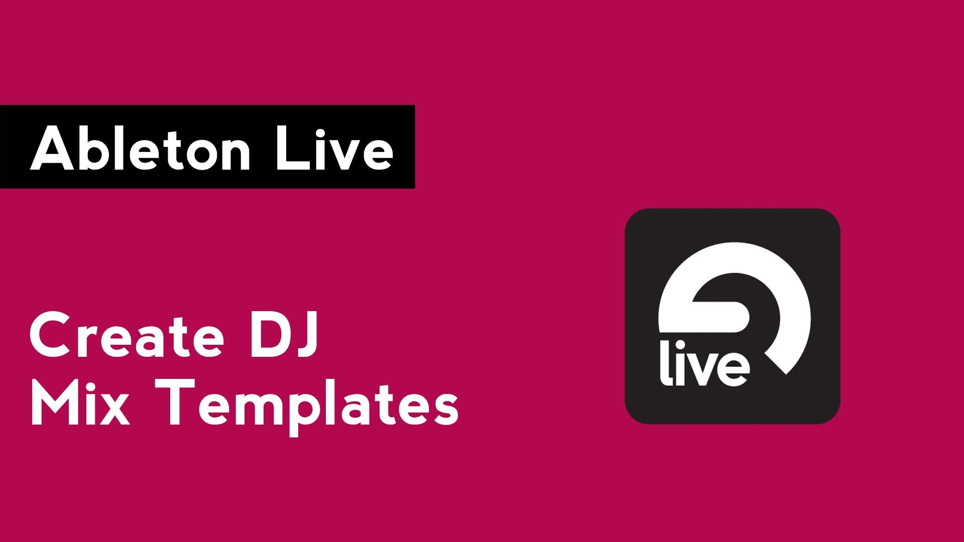 Ableton Mix Templates And Recording Your Mix In Audacity The Dj