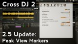 Mixvibes Cross DJ 2.5 Tutorial: Peak View Markers