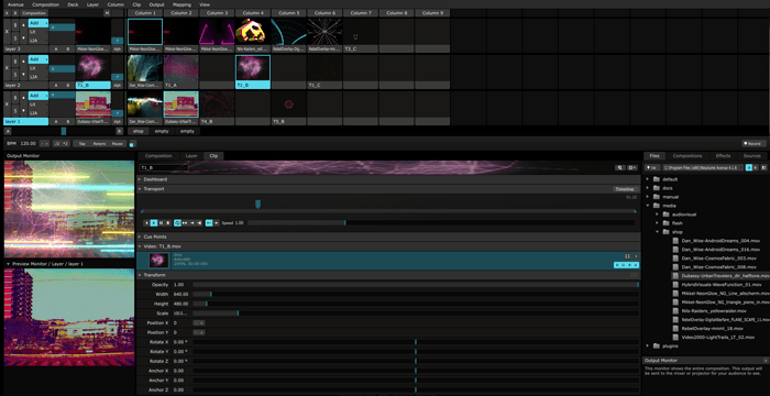 Resolume Avenue 4 Screenshot